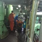 Air Compressor Installation on Ship
